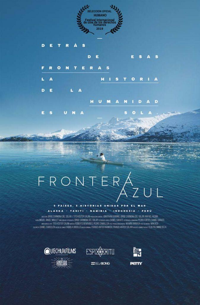 Poster frontera azul